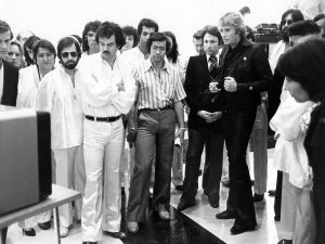 Michel Drucker, Johnny Hallyday & Marc Bozonnet